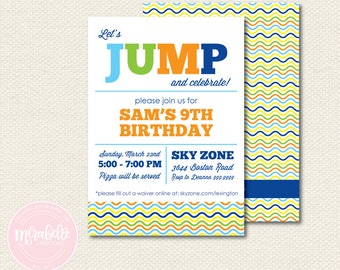 Trampoline Party Collection -  INVITATION - Mirabelle Creations