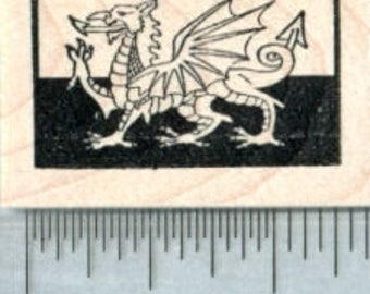 Dragon Rubber Stamp Etsy