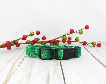 Green Dog Collar, Green Cat Collar, Christmas Dog Collar, Christmas Cat Collar, Green Icing Collar, Holiday Collar