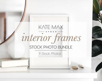 Interior Frames Styled Stock Photo / Product Mockup / 9 Styled Stock Photography / KateMaxStock Photography