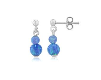 Blue Opal Earrlings