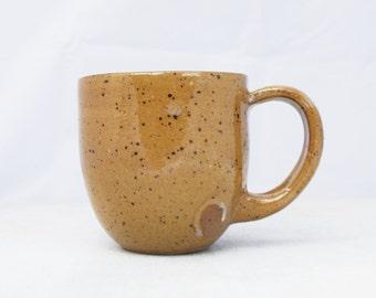 Brown speck. Mug. Coffee mug.  Tea mug. Breakfast mug, Kitchen. Contemporary ceramics. Handmade mug. Handmade gift. Gift idea.