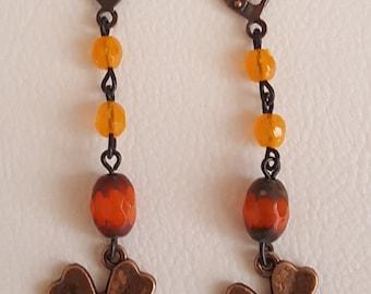 Copper Shamrock and Czech Beads