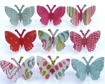 Marseille - Decorative Push Pins - 3D Paper Butterfly - Made To Order