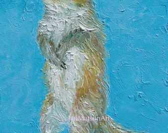 SQUIRREL painting, nursery wall art, animal art, childrens, babys room, kids room art, woodland animal, squirrel art, by Jan Matson