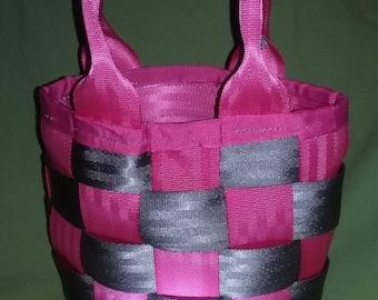 Tribago Women's Pink and Gray Medium Tote Bag