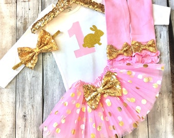 Some bunny is 1 easter birthday outfit pink and gold first birthday bunny bodysuit bunny birthday shirt cake smash outfit easter birthday