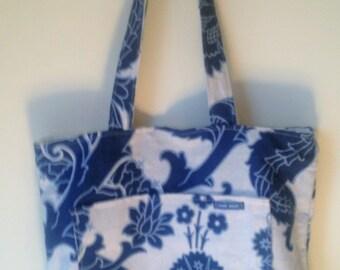 Designer Linen Reversible Tote Bag Handmade