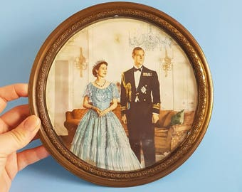Vintage picture of the Queen & Prince Phillip | Coronation | Royal memorabilia | HRH