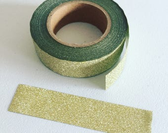 Gold Glitter Masking Tape, Gold Glitter Washi Tape, Sparkling Tape, Planner Washi, Scrapbook Supplies, Party Decorative Tape, Gift Wrapping