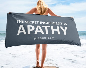 Apathy Towel