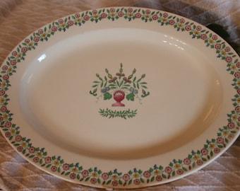 "Knowles American Tradition 13.5"" Platter - Penelope's Flower Basket Pattern"