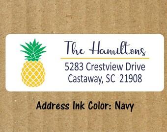 Pineapple Address Labels, 90 Labels, Return Address Labels, Pineapple, Address Labels, Moving Address Labels, New Address, Labels