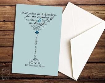 Martini / Cocktail Event Invitation Card Design - Custom - Unique - Personalized