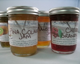 Jam.Jelly. 4 Jar Gift Pack. Choose 4 of your favorite jams or jellies. FREE SHIPPING by Beckeys Holiday gift, homemade jam, gift for Mom