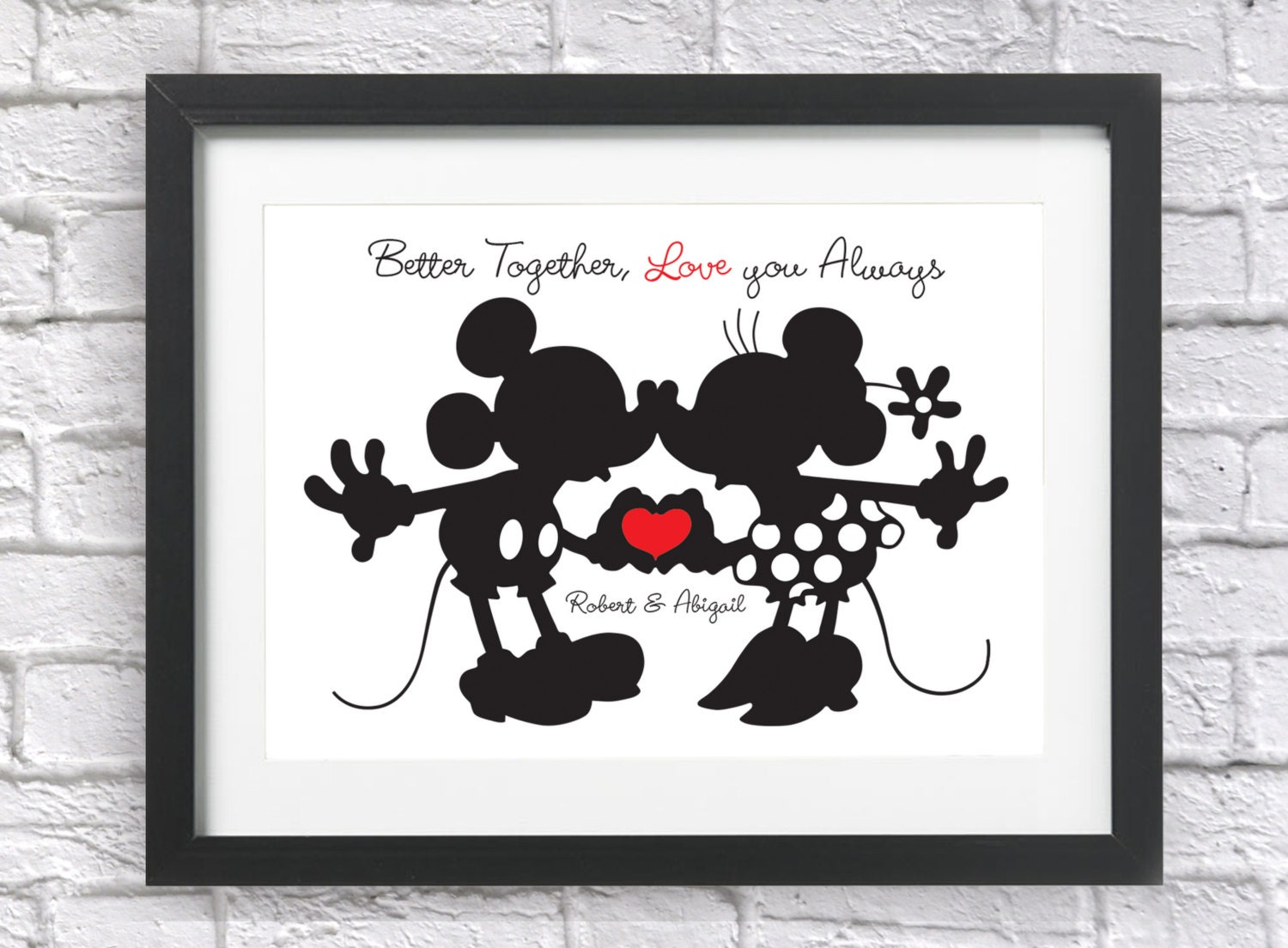 Digital PDF Personalised Disney Mickey & Minnie Mouse Gift