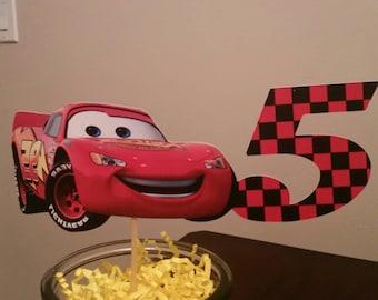 Cars Lightning McQueen Cake Topper, Cars 1, Cars 2, Cars 3, Mater, Race Car, Racer, Racing, Radiator Springs, Pixar