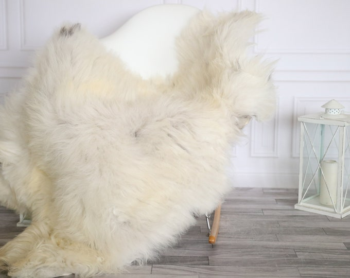 Sheepskin Rug | Real Sheepskin Rug | Shaggy Rug | Sheepskin Throw | Super Large Sheepskin Rug Beige Gray | Home Decor | #HERMAJ87