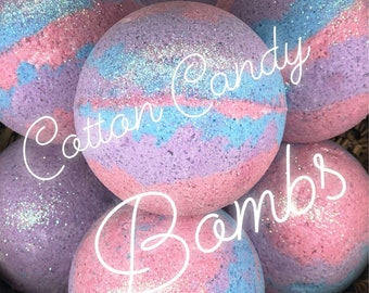 Bath Bomb | Cotton Candy | All Natural | 5.3 oz