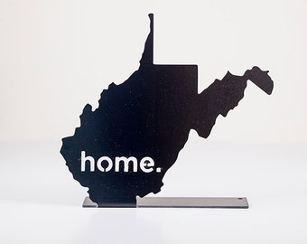 West Virginia Home State Steel Sign - Metal State Decor
