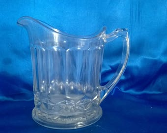 Vintage Glass Water Jug/Pitcher