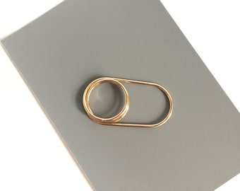 Double Finger Ring - Two Finger Ring - Gold Ring - Two Finger Band Ring - Double Finger Gold Ring