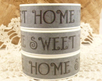 Home Sweet Home Grey Washi Tape - PP1414