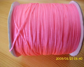 5 meters of nylon thread for 0.8 mm neon pink shamballa