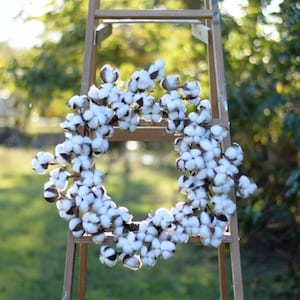 "Cotton Wreath Cotton Boll Wreath Cotton Wreath Cotton Wreath 22"" Farmhouse Cotton Wreaths Fixer Upper medium wreath"