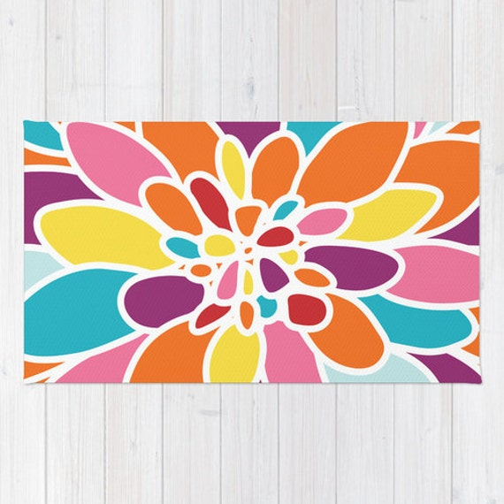 Yellow flower rug images flower decoration ideas yellow flower rug images flower decoration ideas flower area rug abstract flower rug orange pink yellow mightylinksfo