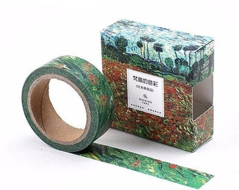 Van Gogh art inspired washi tape red vineyard  adhesive tape