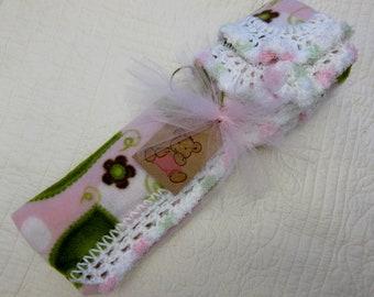 Baby Gift Pink Mint Fleece Crochet Toddler Car Seat Stroller Nursery Blanket