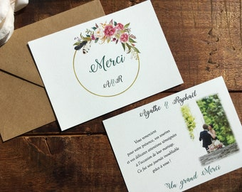 Card / thank you country wedding