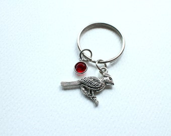 Cardinal Bird Keychain/Personalized/Cardinal Charm/Cift for Mom/ Gift For Grandma/ Christmas/ Mother's day