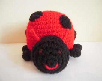 Crocheted Amigurumi Stuffed Ladybug