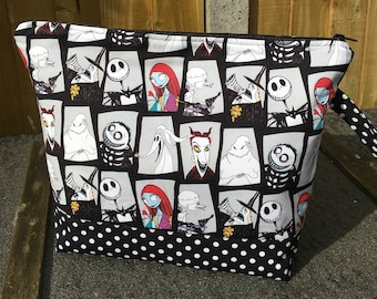 Nightmare before Christmas craft project storage bag in 3 sizes