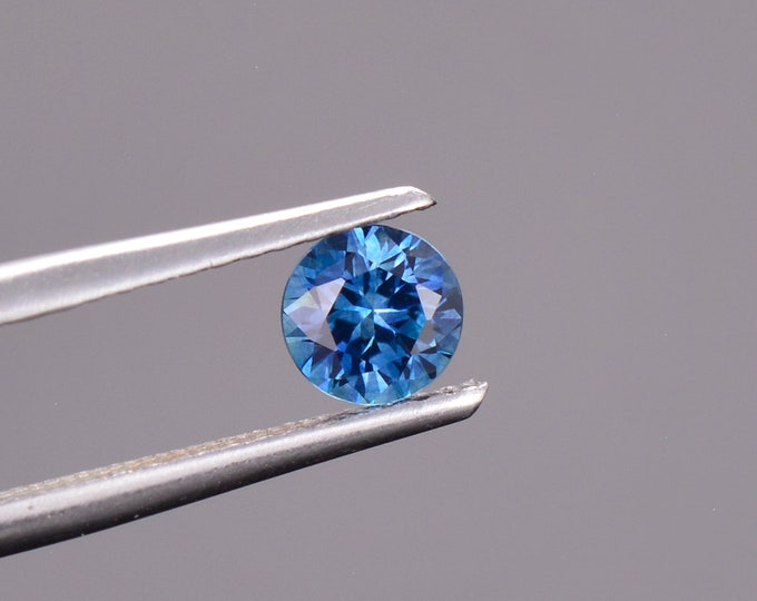 Blue Sapphire Gemstone from Montana, Round, 0.51 cts., 4.6 mm.