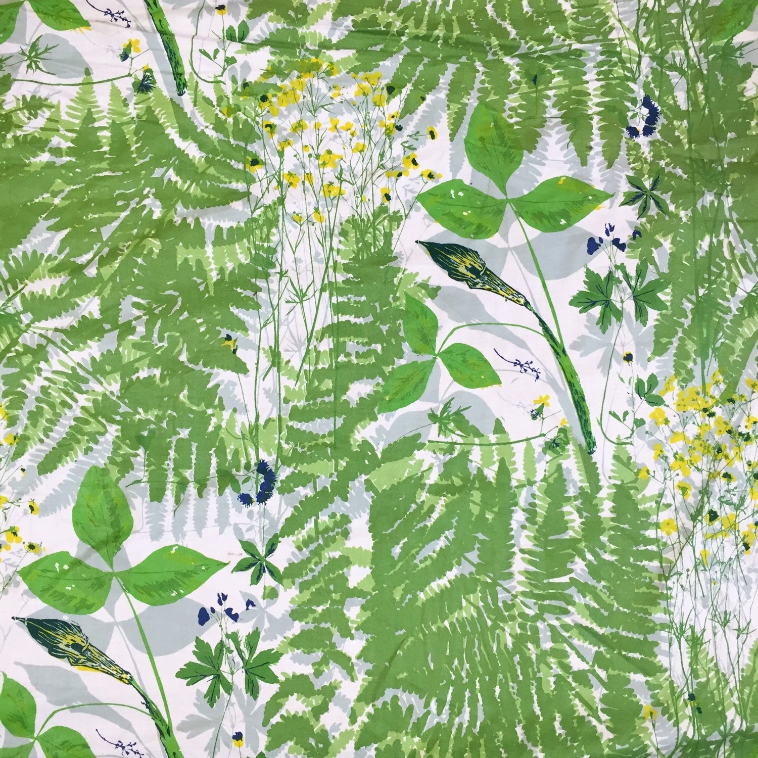 Vintage 1940s Vera for Schumacher Cotton Fabric by the yard \