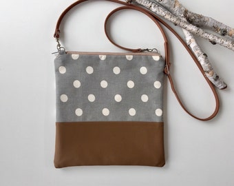 Polka Dot & Vegan Crossbody Purse // Crossbody Bag //  Vegan Crossbody Bag // Vegan // Shoulder Bag // Vegan Purse