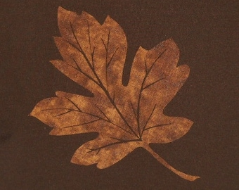 Small Young Maple Leaf Quilt Applique Pattern Design