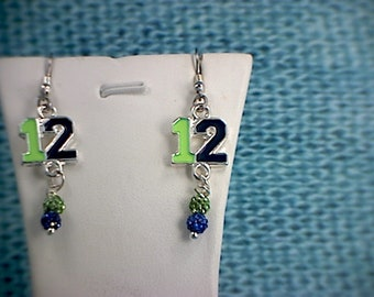 Seahawks #12 Dangle Earrings (1)