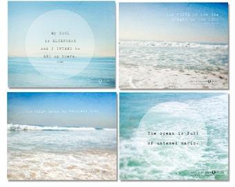 Wave Photography, Beach Decor, Surf Art, Beach Photography, California, Water Photograph, Ocean, Turquoise, Surf Decor, Beach House Art Set