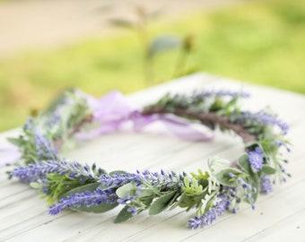Customize Pastel lavender flower crown,Flower headband, headband, wedding flower crown, bridal flower crown, purple flower crown