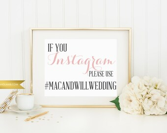 Hashtag Sign - Printable - Digital Download - 5x7 other sizes available