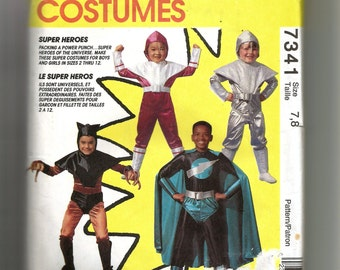McCall's Child's Super Heroes Costumes Pattern 7341