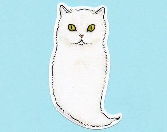 Ghost Cat Sticker