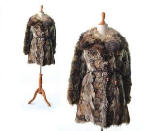 Fur coat, women's fur coat, real fur coat, Vintage fur coat, raccoon fur coat, similar to fox fur