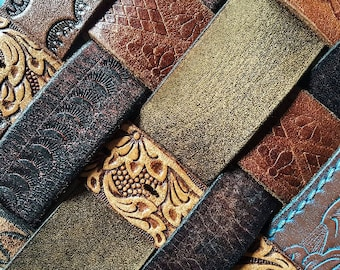 Wholesale Leather Jewelry Supplies Rustic Cuffs Plain Tooled Patina Recycled Vintage Leather Jewelry Making  XS/S/M/L/XL Brwn Blk Dozen Lot