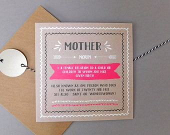 Mothers day card for mother card for mum mom happy mothers day cards mum birthday card mum birthday greeting card (DEF35)