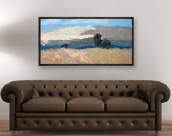 Landscape Painting Oil Painting on Canvas Abstract Landscape Art Abstract Painting Country Painting Modern Painting Large Painting Italy Art